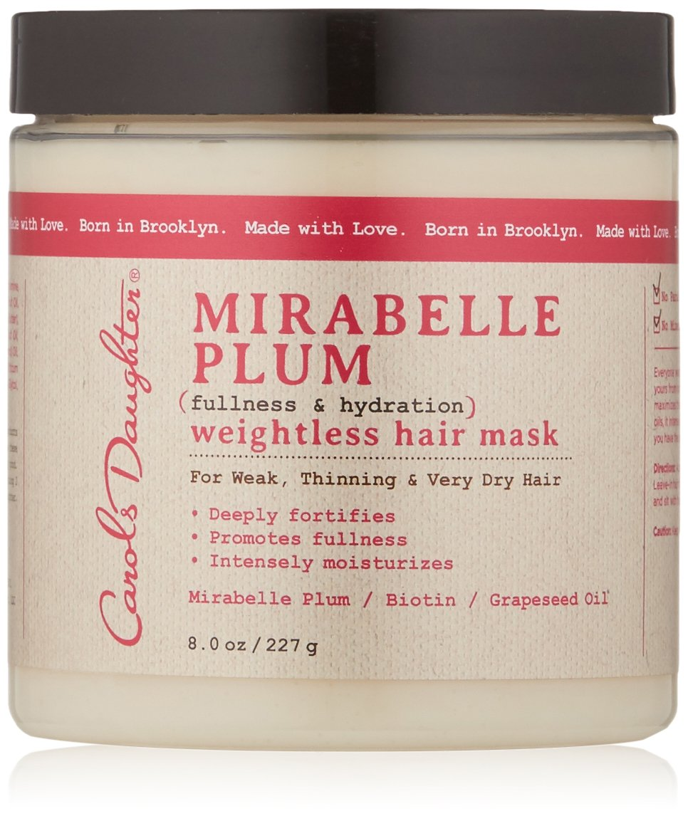 Carol's Daughter Mirabelle Plum Weightless Hair Mask, 8 oz (Packaging May Vary) Carol's Daughter