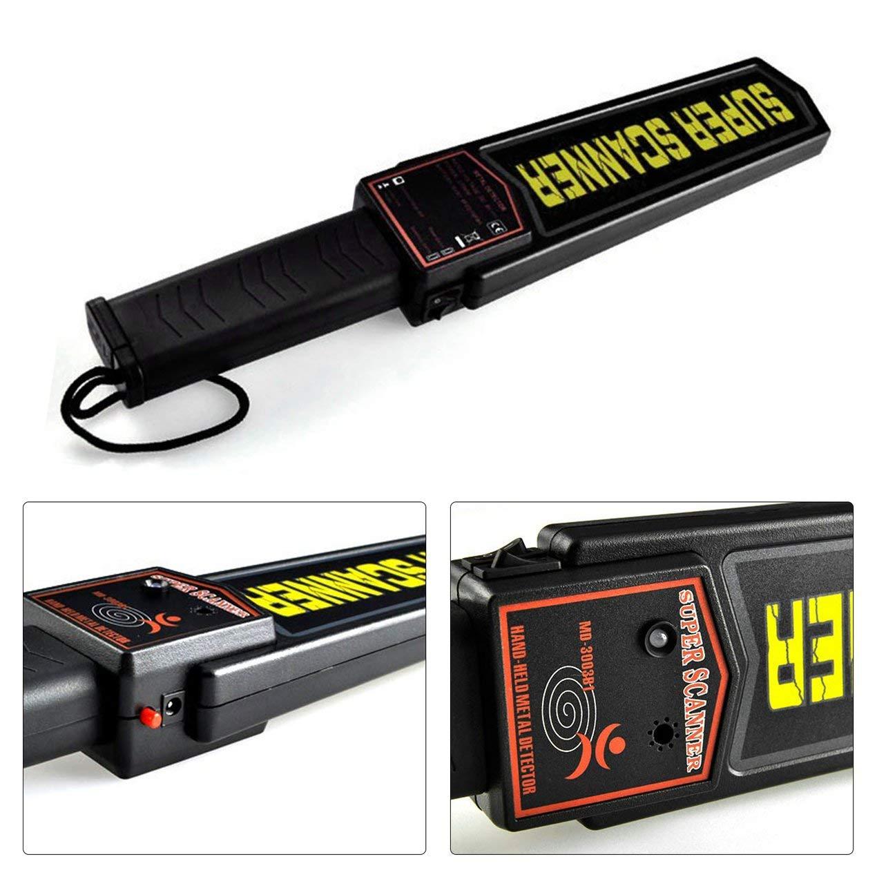 Dooret Detector de Metal de Mano, escáner Varita de análisis de Seguridad de Herramientas con Las Luces indicadoras, Alerta de Audio y sensibilidad ...