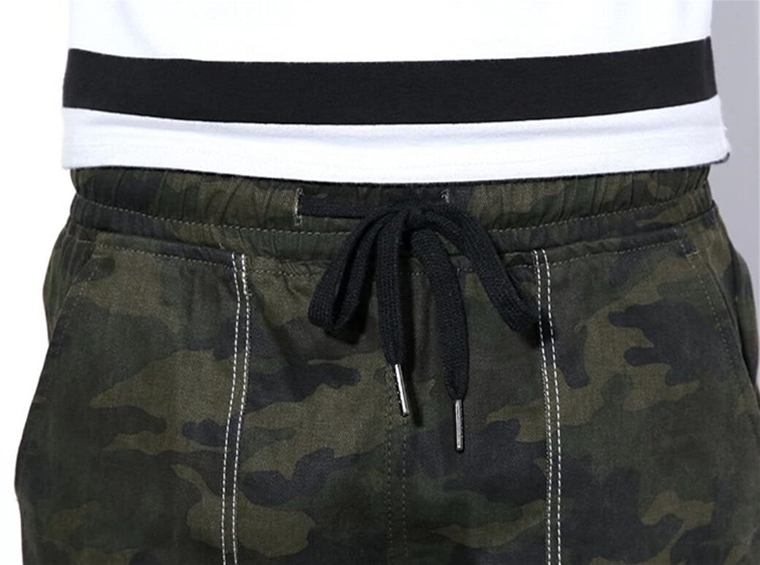 Frieed Mens Camo Print Pockets Drawstring Jogger Sport Loose Long Pants