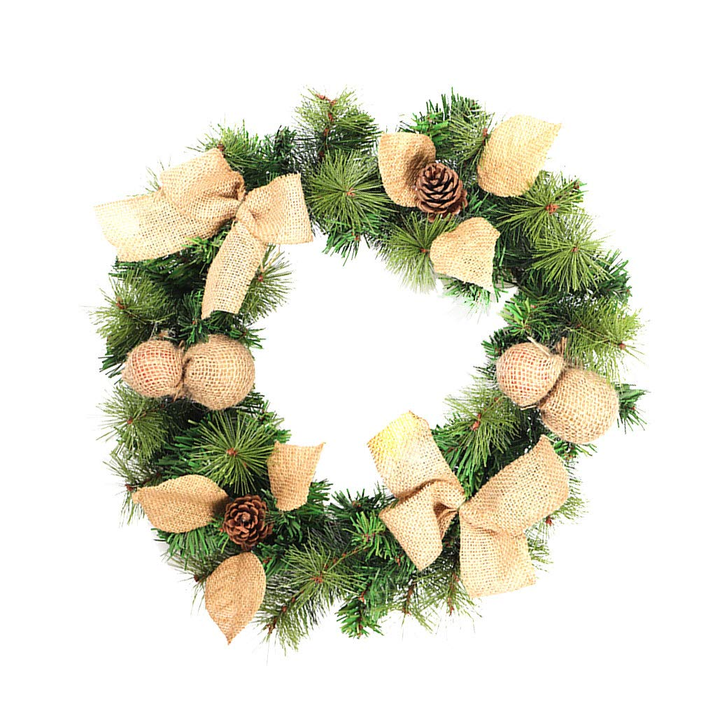 BESTOYARD Christmas Wreaths Artificial Natural Pine Cone Garlands Home Party Decoration Artificial Flower Wreaths
