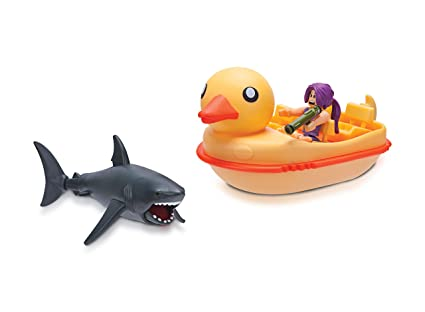 Amazoncom Roblox Celebrity Collection Sharkbite Duck Boat Feature