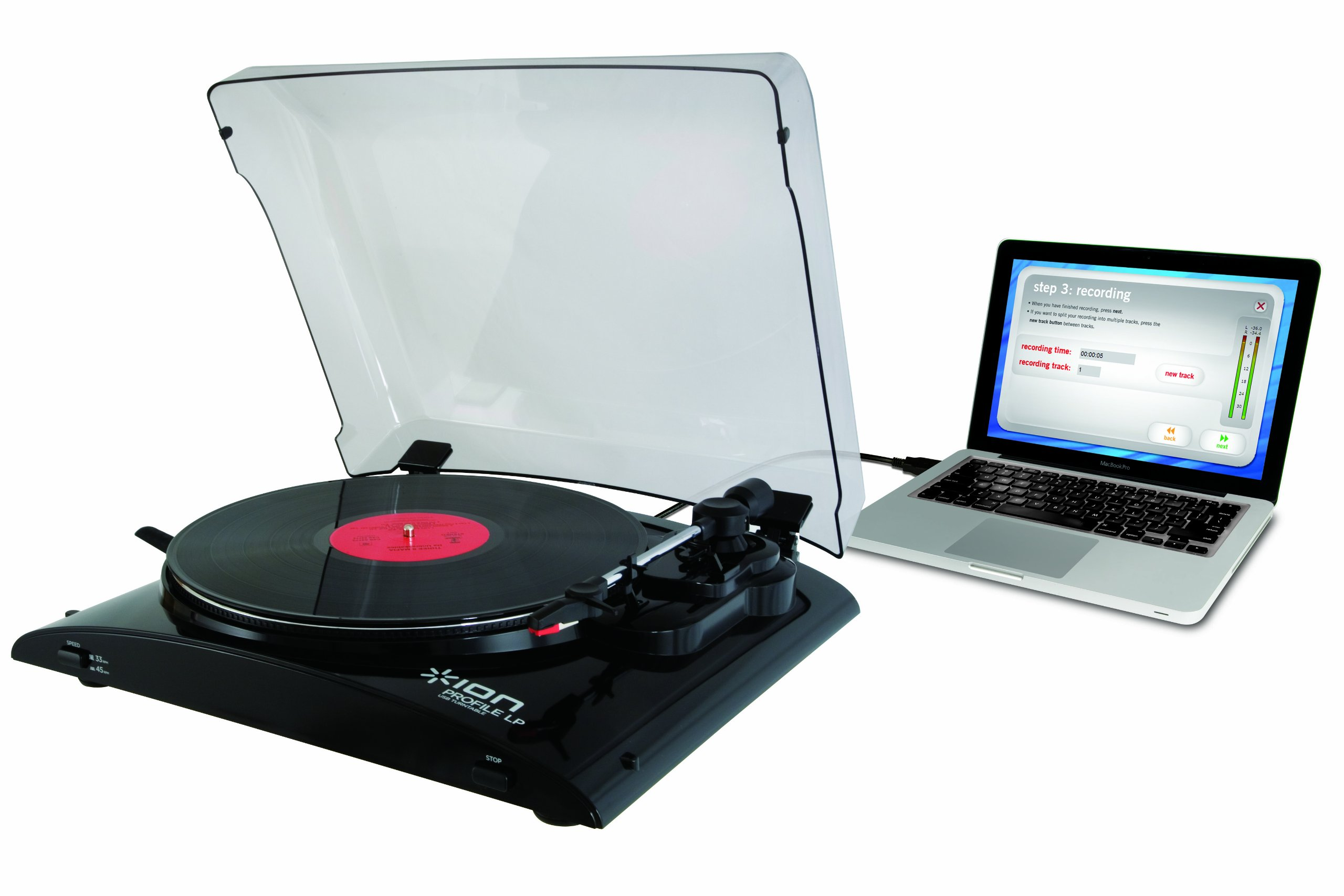 ION Profile LP Vinyl-to-MP3 Turntable by ION Audio (Image #1)