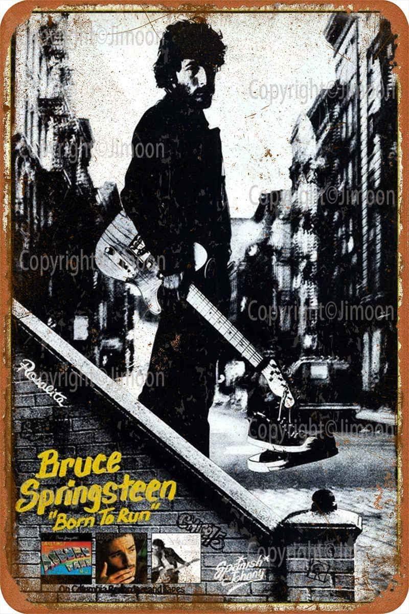 Jimoon Bruce Springsteen R/étro Plaque en /étain Vintage M/étallique Panneau M/étal Mur Affiche Mural Signe D/écoration Bar Pub Restaurant Caf/é Garrage