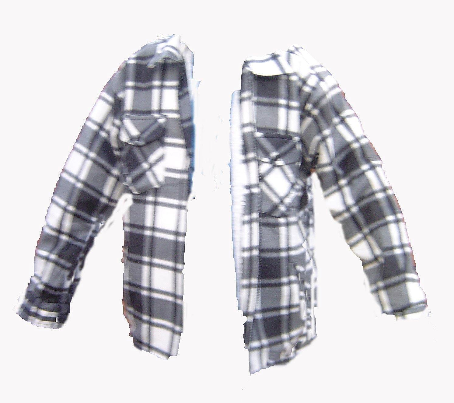 Camisa de leñador para hombre de piel de forro polar térmica acolchada con cremallera frontal M L XL XXL black grey check xx-large: Amazon.es: Ropa y accesorios