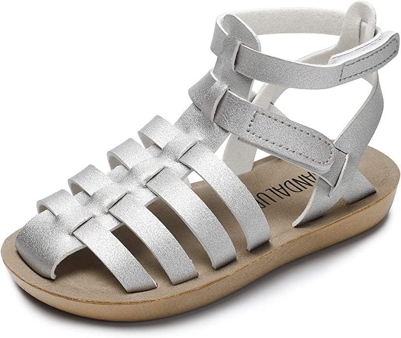 SANDALUP Summer Sandals w Double Buckle for Toddler Girls//Boys