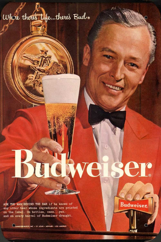 Metal Poster Cartel Hojalata Signo de budweiser Beer and ...
