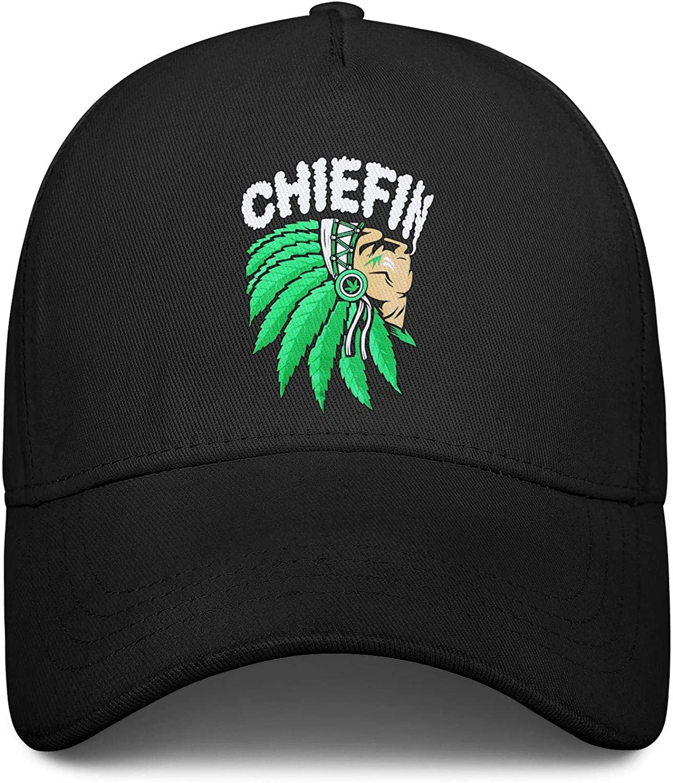 Chief Smoking Weed Marijuana Unisex Baseball Cap Fitted Snapback Caps Adjustable Trucker Caps Dad-Hat