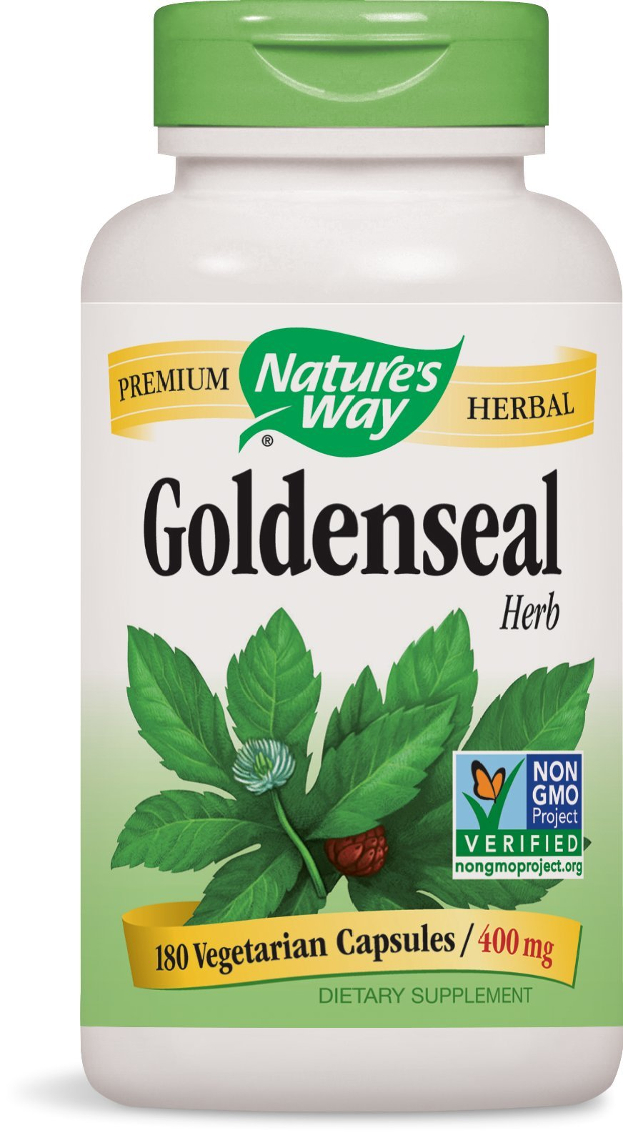 Nature's Way Goldenseal Herb, 400mg, 180-Capsules