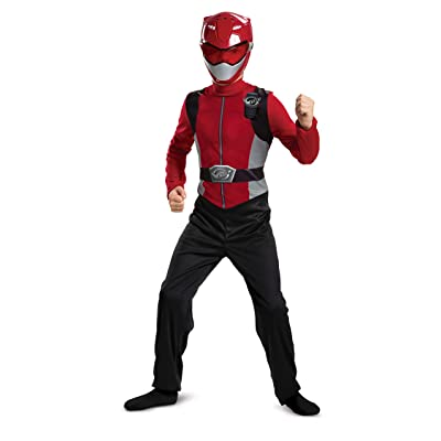 Red Power Ranger Beast Morphers Basic Boys' Costume: Toys & Games