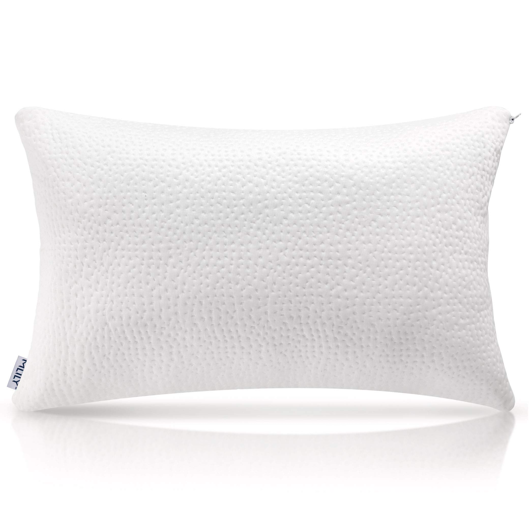 Milemont Shredded Memory Foam Pillow, Bed Pillows, Cooling Pillow for Side Back Sleepers with Washable Removable Cover, CertiPUR-US, Queen by Milemont