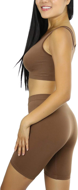 ToBeInStyle Womens Trendy Seamless Bra and Short Set