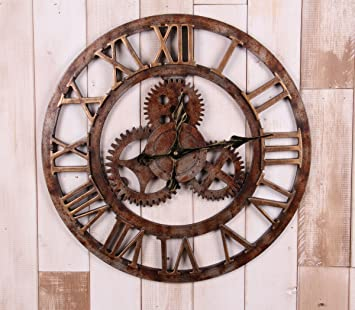 TXD Clock Evocando el Estilo Industrial de Marchas Digital de Pared Reloj de Pared decoraciš®n Mural Creativo Raymond: Amazon.es: Hogar
