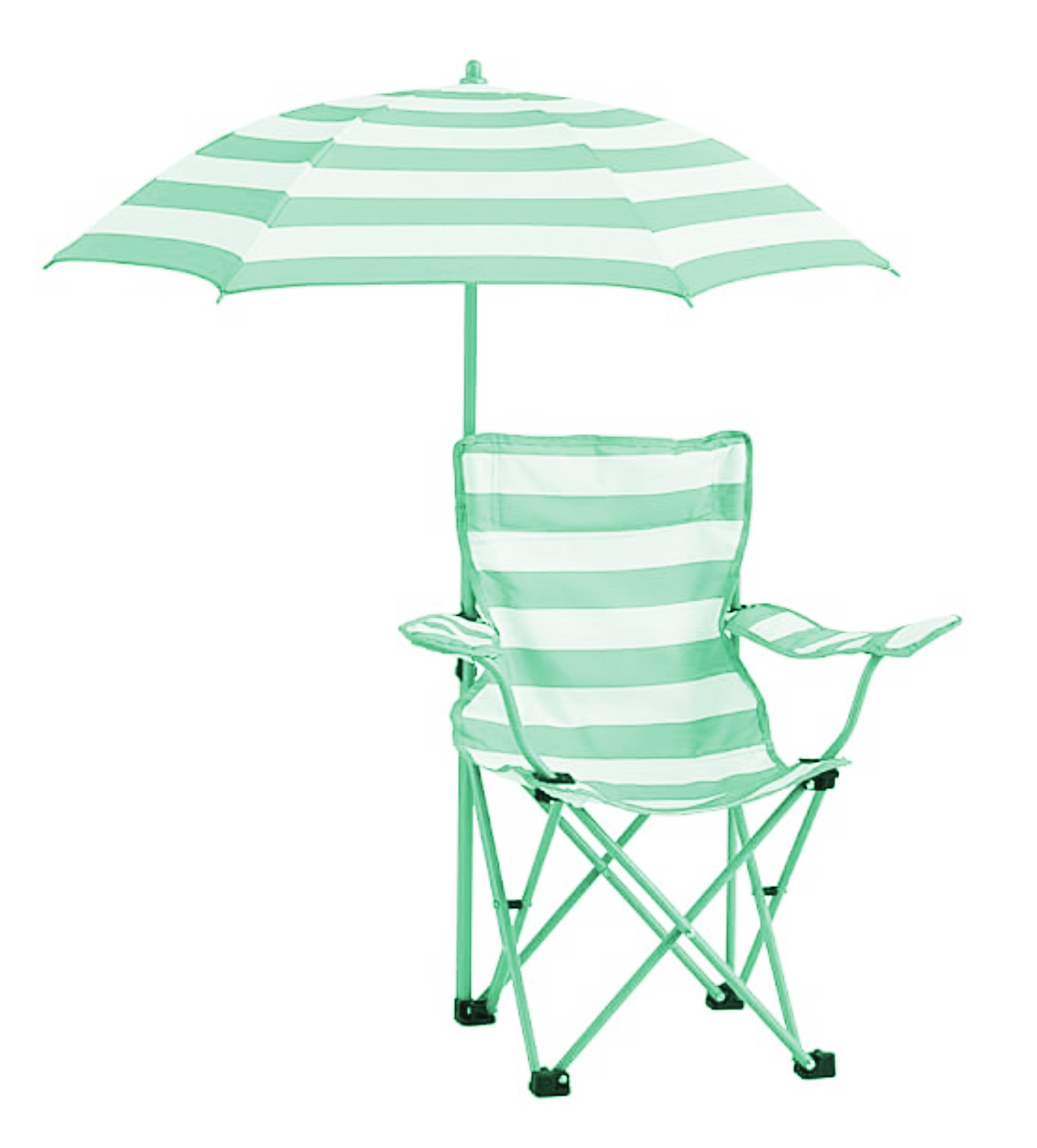 Heritage Kids NK656574 Rugby Stripe Camp Chair, Green