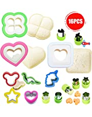 Aokinle Sandwich Cutter for Kids, Cutters and Sealer Set, Stainless Steel Cookie Food Cutters, Vegetable Cutters Shapes, Great for Boys and Girls Lunchbox,Bento Box