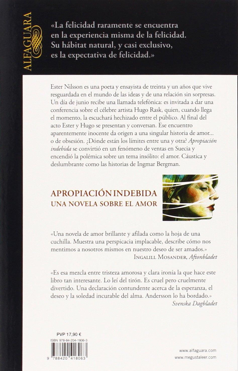 Apropiación indebida: Una novela sobre el amor LITERATURAS: Amazon ...