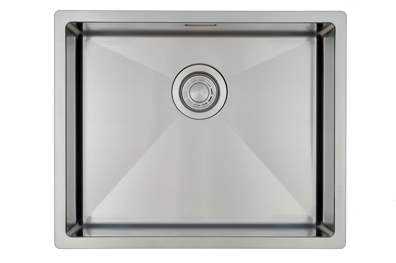 edelstahl küchenspüle spülbecken copa design 55 40 flächenbündig