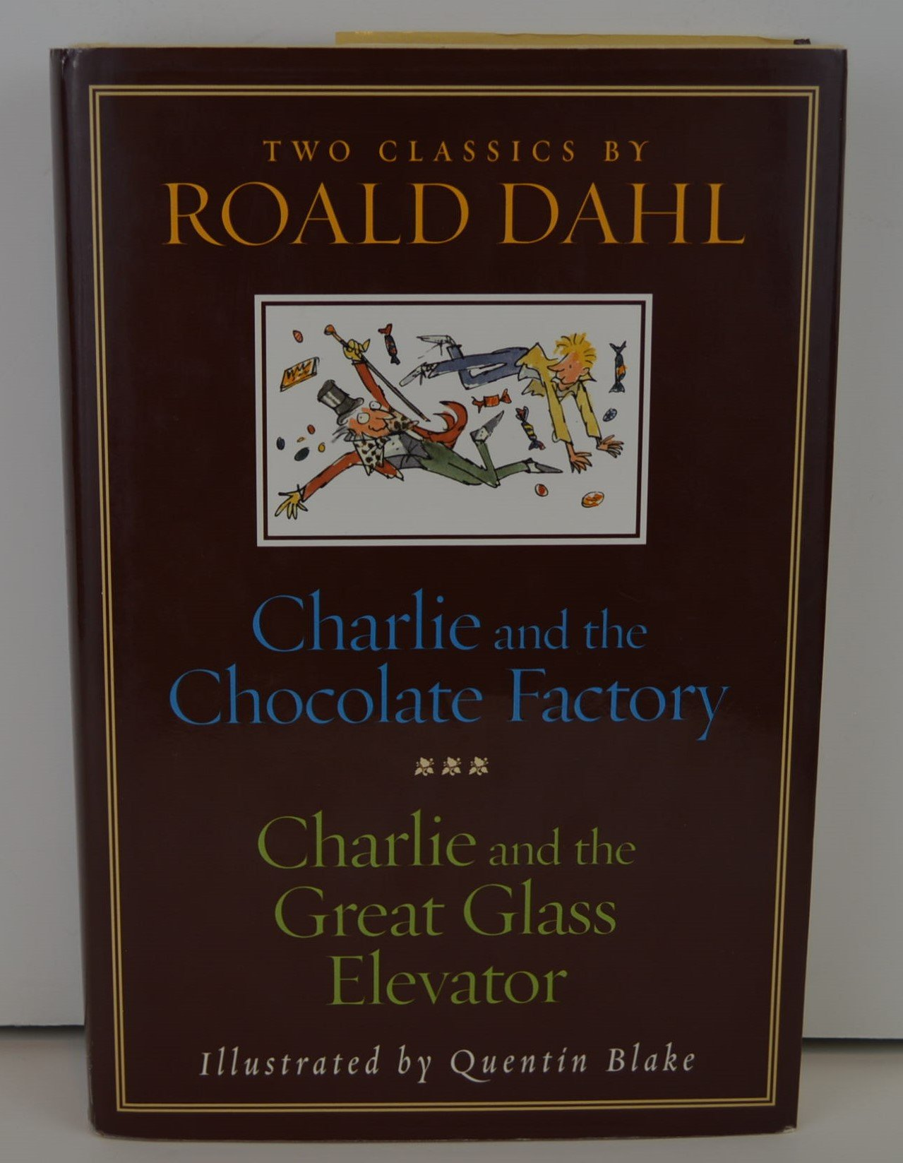 charlie and the chocolate factory and charlie and the great glass charlie and the chocolate factory and charlie and the great glass elevator roald dahl quentin blake 9780375829307 com books