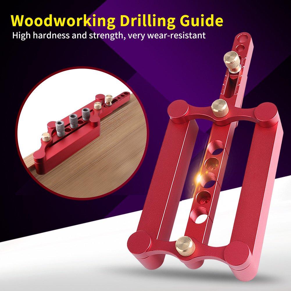 Gu/ía de perforaci/ón de taladros para madera Herramienta para ubicar posicionador de carpinter/ía Punz/ón para carpinter/ía Posicionador de taladro