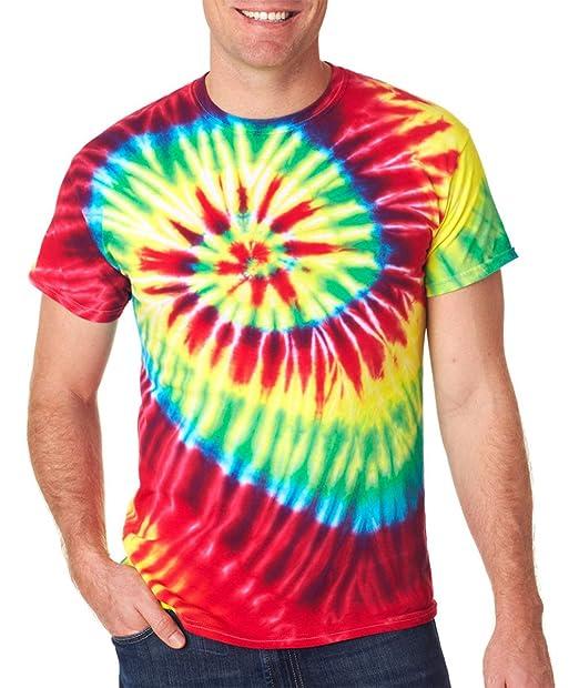 1024936b2 94 Gildan Tie Dye Men's Cotton Wave Tee Basic T Shirt 3XL Rainbow Tide