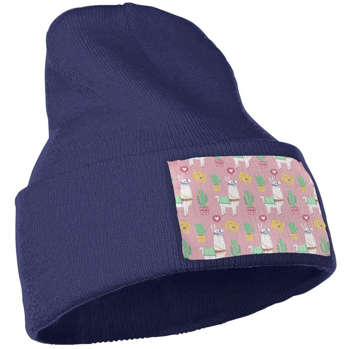 TAOMAP89 Alpaca Women and Men Skull Caps Winter Warm Stretchy Knit Beanie Hats