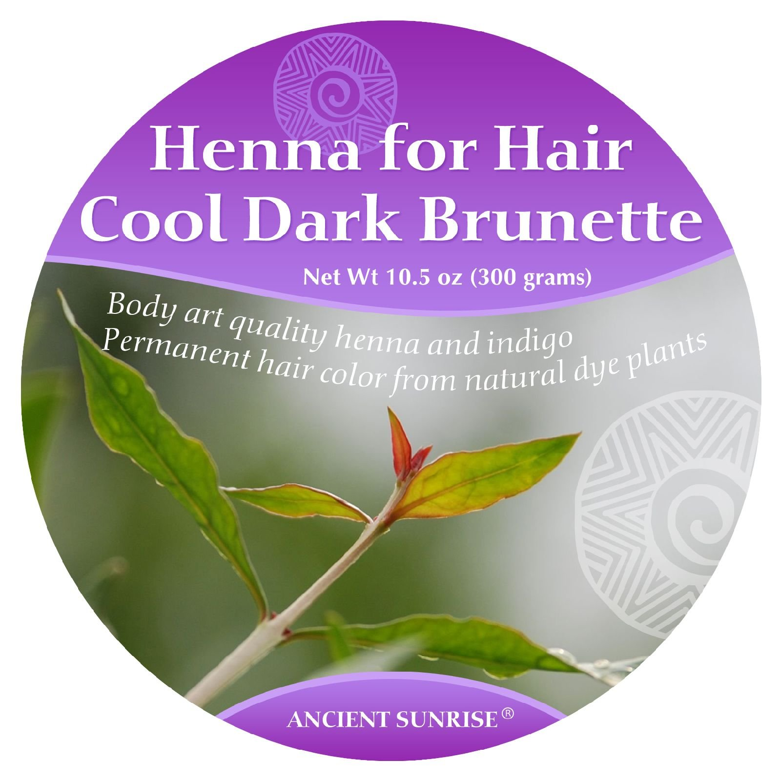 Ancient Sunrise Henna For Hair Cool Dark Brunette Kit by Ancient Sunrise