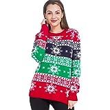 ZEALOTPOWER - Suéter de Navidad para mujer, diseño de copo de nieve