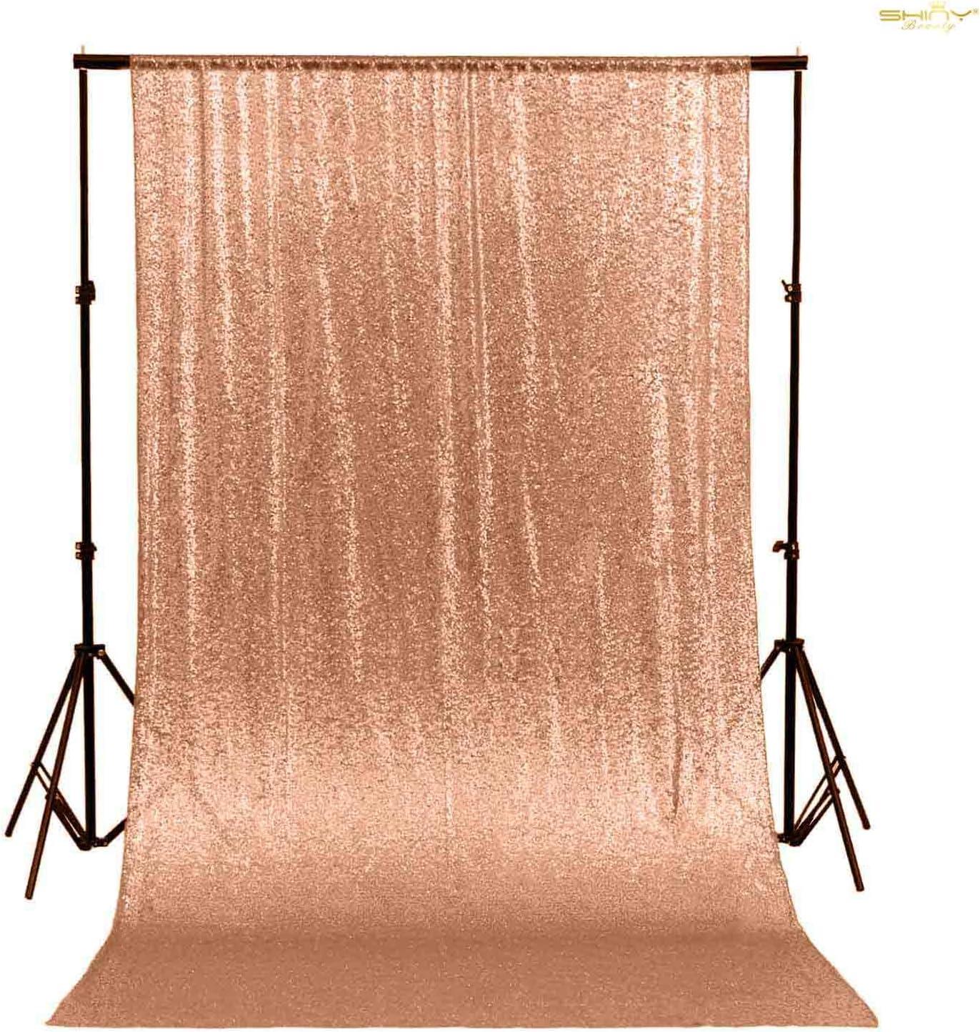 Shinybeauty Rose Gold Pailletten Hintergrund Vorhang 50x72in Pailletten Foto Hintergrund