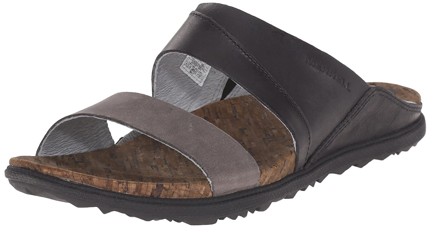 Merrell Women's Around Town Slide Sandal B00YDM6O0G 5 B(M) US|Black