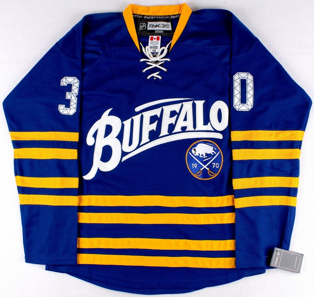 cheap for discount 2e4f0 7b7de Buffalo-Sabres-Team-Signed-Ryan-Miller-Throwback-Jersey at ...