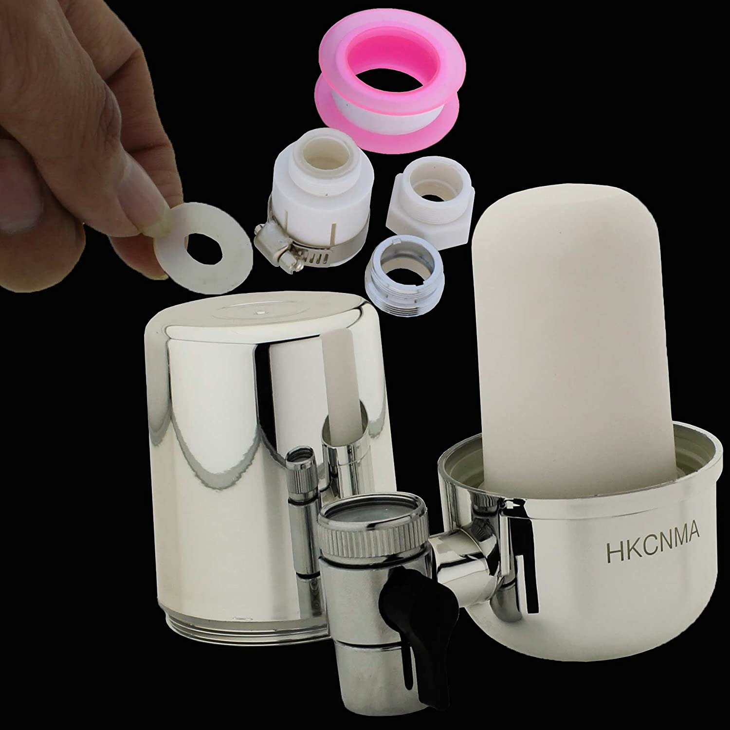 Amazon.com: HKCNMA Chrome Faucet Water Filter System & Tap Water ...