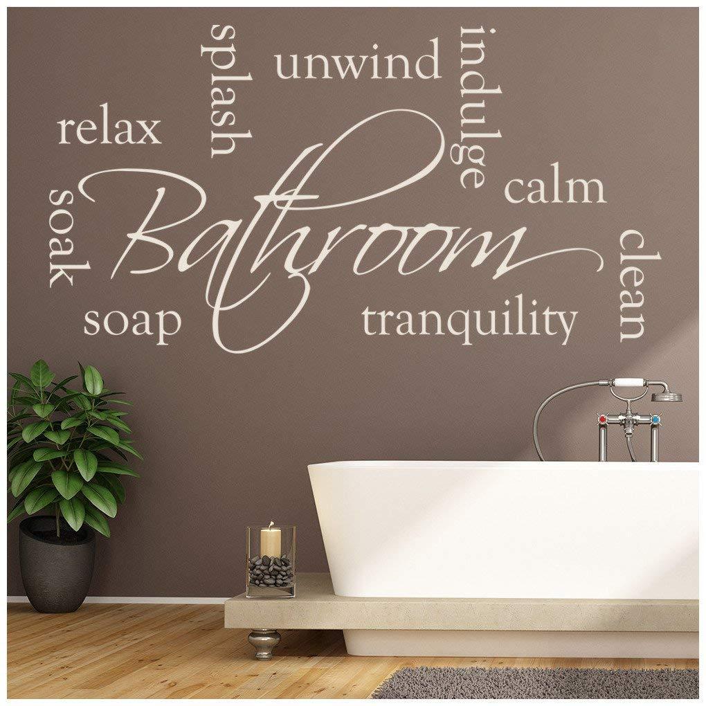 Relax Unwind Soak Vinyl Wall Art Sticker Decal Bathroom 24 Colours FREE P/&P
