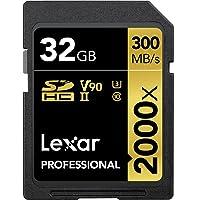 Lexar Professional 2000x 32GB SDHC UHS-II Card w/o Reader (LSD2000032G-BNNNU)