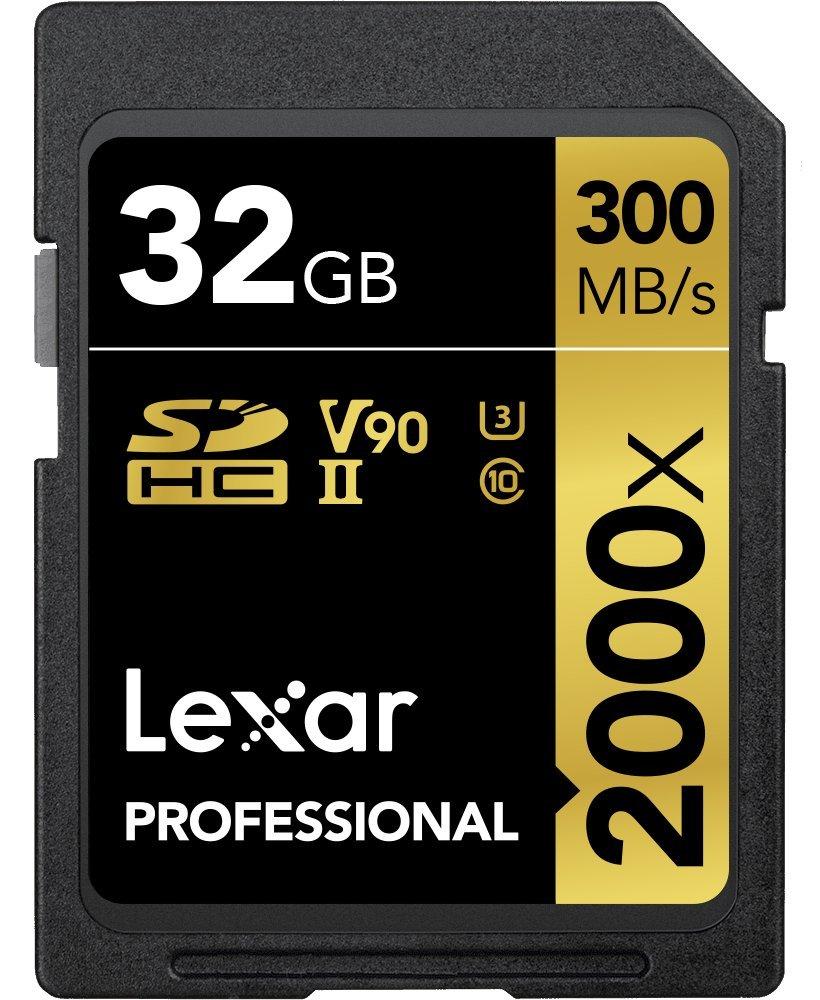 Lexar Professional 2000x 32GB SDHC UHS-II Card by Lexar