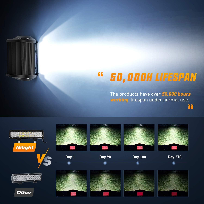 Amazon.com: Nilight, barra de luz led de 12 pulgadas, 72W ...