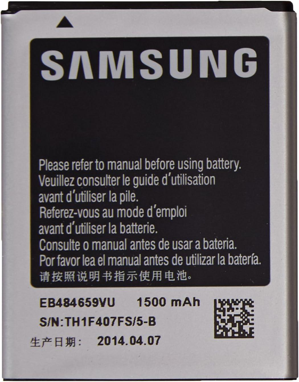 Samsung 23140091 Original /& Neu EB484659VU 1500 mAh f/ür Samsung i8150 Galaxy W // S8600 Wave 3 // S5690 xCover // i8350 Omnia W Frustation free Packaging Li-Ion