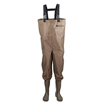 Image result for Hodgman Mackenzie Nylon and PVC Cleated Bootfoot Chest Fishing Waders