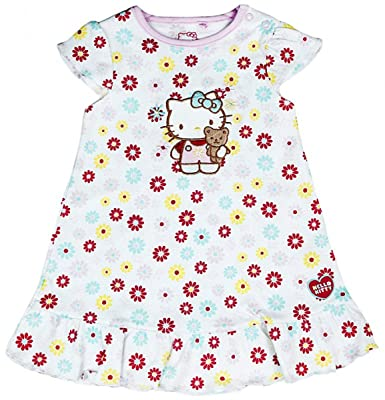 bb870bdd3bf2f Girls Baby Hello Kitty Daisy Flower Frill Summer Dress Newborn to 12 Months