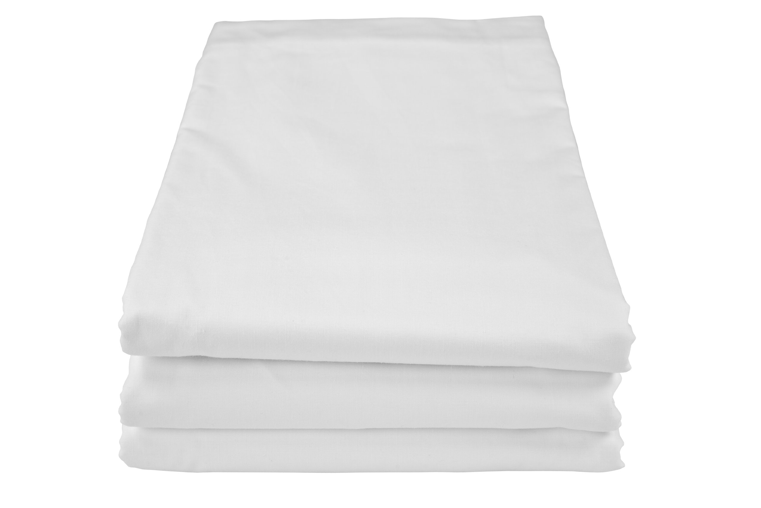 Riegel 90 by 115-Inch Queen Flat Sheet with 200 Thread Count, White, 6-Pack