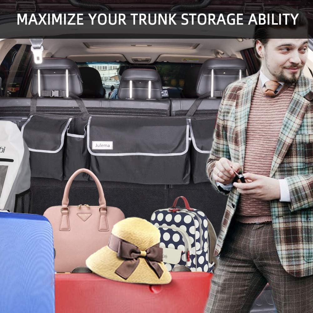 Car Back Seat Hanging Storage Organizer Free Your Trunk Space Julema Backseat SUV Trunk Organizer