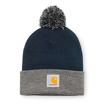 Carhartt WIP Hats Britt Bobble Hat - Navy-Grey 1-Size  Amazon.co.uk ... 99ea7b2df454