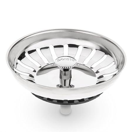 Savisto Premium Stainless Steel Kitchen Sink Plug Strainer / Drainer ...