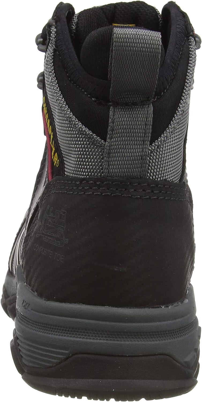 Cat Footwear Induction Nt S1p, Botte de Sécurité Homme Noir Black Med Charcoal