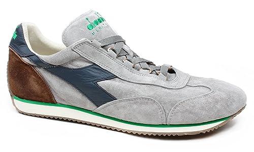 Diadora 156552 C6346 - Zapatillas de Piel para hombre, color Gris, talla 40.5