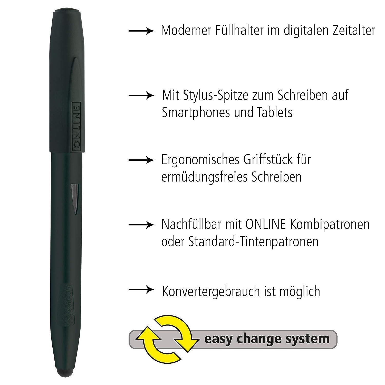 Online 25048//3D Switch Expert Penna stilografica colore: Nero pennino fine