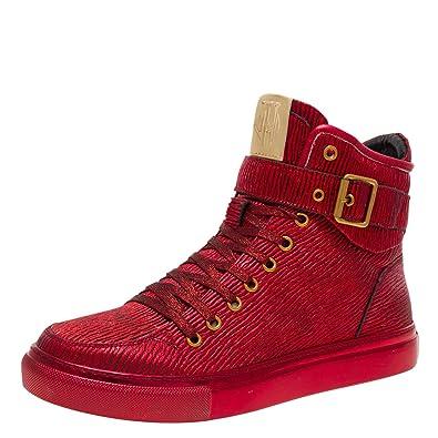 7aa3a00d97bafc Jump Newyork Men s Sullivan High Top Sneaker Red Stretch Bark 7 D US Men