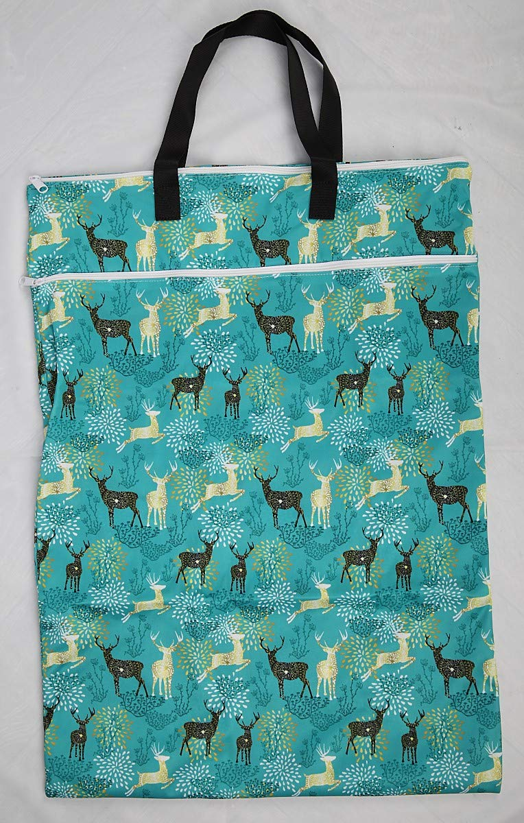 Large Hanging Wet//dry Cloth Diaper Pail Bag for Reusable Diapers or Laundry Red Elephant