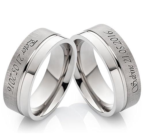 alianzas alianzas de anillos de compromiso de titanio 8 mm sin piedra individual con grabado láser