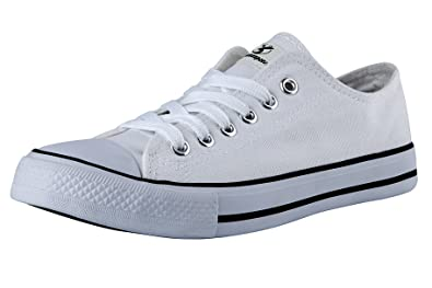 223ba5a4b7473 Shinmax Canvas Shoes for Women Men Red White Black Low Top/High Top Unisex  Canvas Sneaker Low-Cut Hitops Canvas Shoes-Season Lace Up Shoes Casual ...