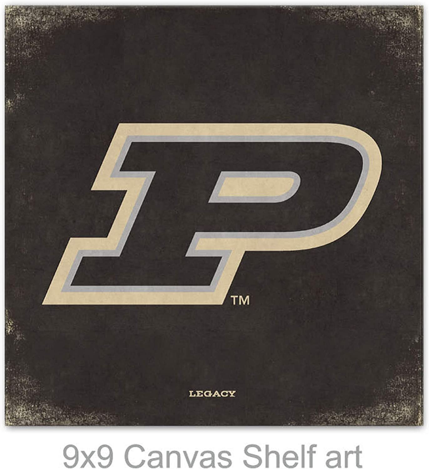 Custom One Size NCAA Legacy Purdue Boilermakers Mini Canvas Art 9x9