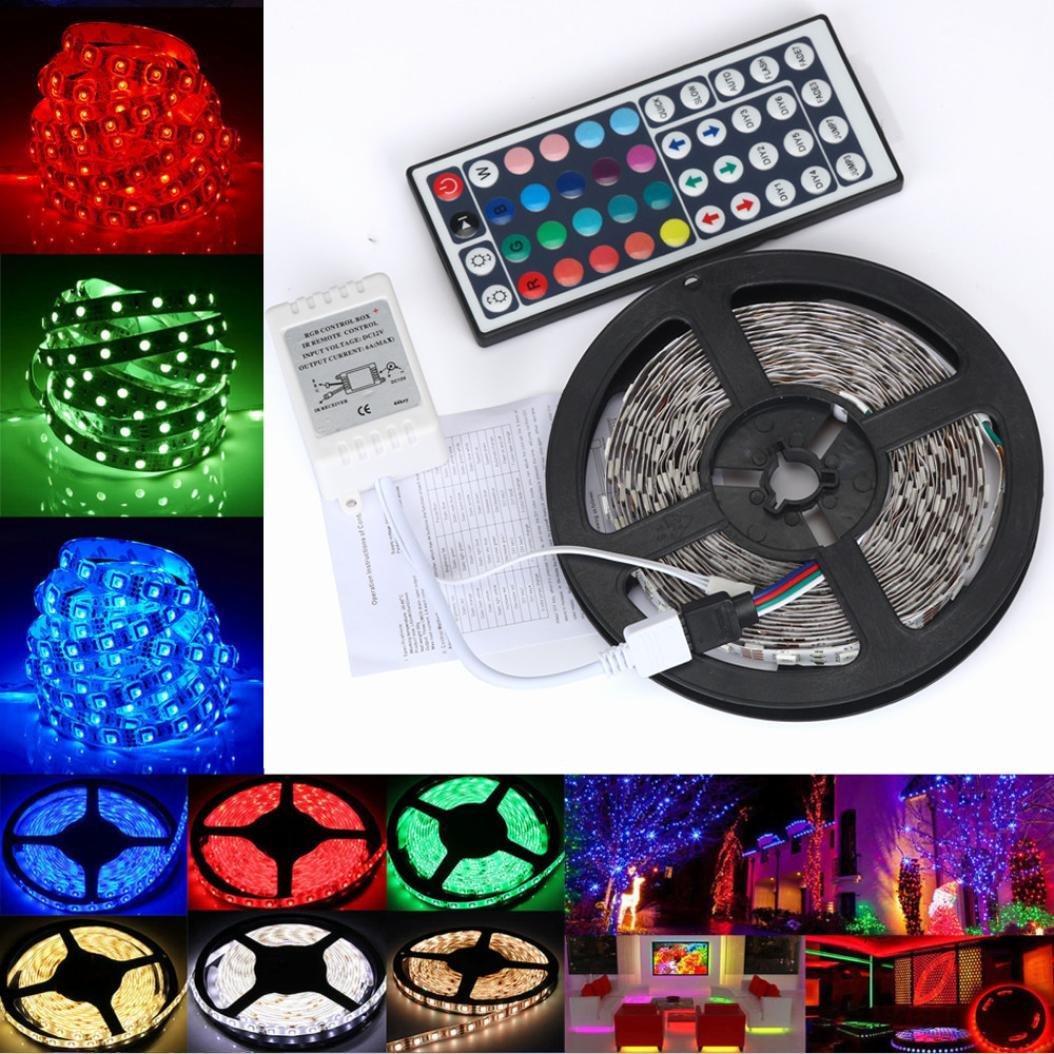 Ama ( TM ) LEDストリップライト防水柔軟なRGBライトの色変更キットwithリモートコントローラ 5m * 1.0 cm AMA(TM)-2267 B077YKC4TL 13691  カラフル
